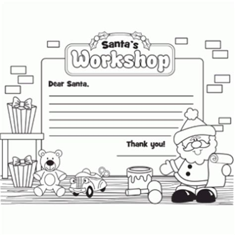 coloring pages of santa s workshop letter to santa s workshop free christmas recipes