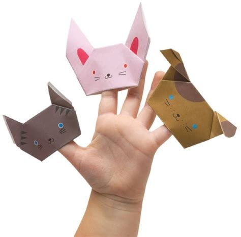 How To Make A Origami Finger Puppet - diy origami finger puppet kidsomania
