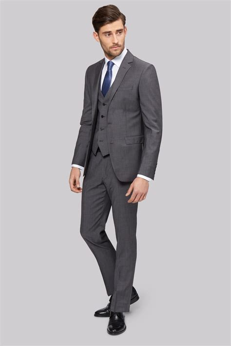 Dc Mens Tonic S moss 1851 tailored fit grey tonic jacket