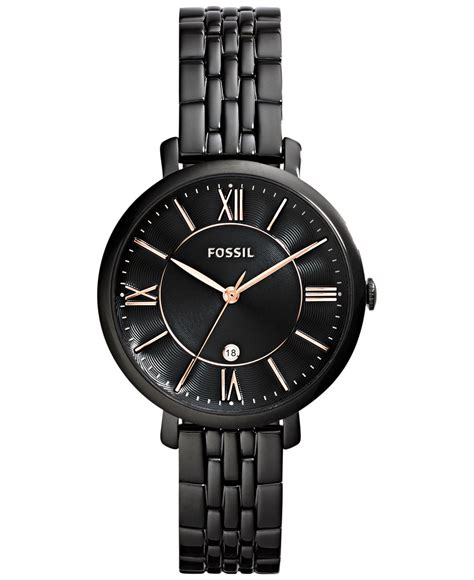 fossil s jacqueline black tone stainless steel