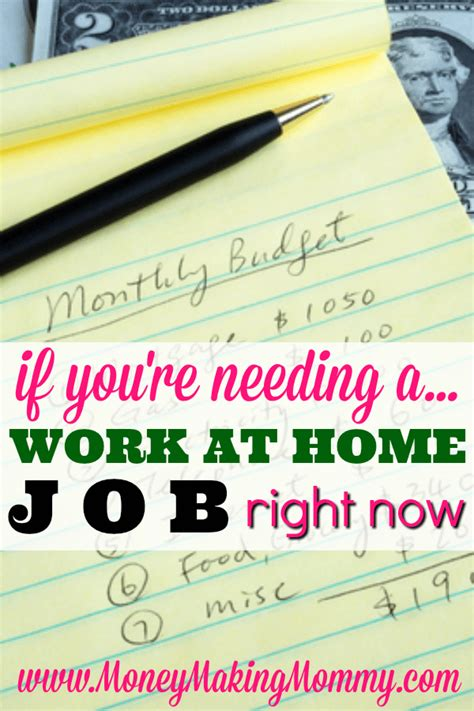 if you need a legitimate work at home right now