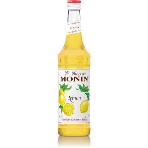 Monin Lemon Syrup   750 ml Bottle, 1 Liter Bottle(s): BaristaProShop.com