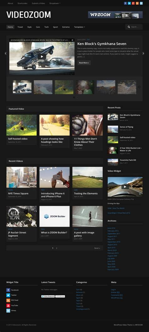 theme zoom blog videozoom 4 0 wordpress theme for self hosted embed videos