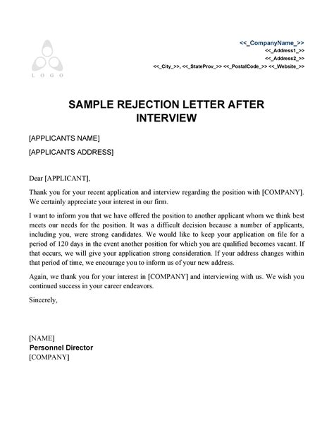 sample bad news letter applicant mamiihondenkorg