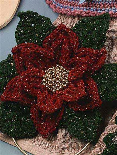 pattern crochet poinsettia christmas poinsettias to crochet free patterns