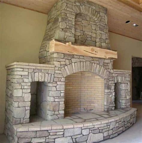 Stone Fireplace With Wood Storage My Home Pinterest Fireplace With Storage