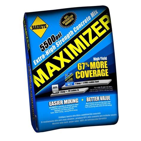 maximizer 80 lb concrete mix max80 the home depot