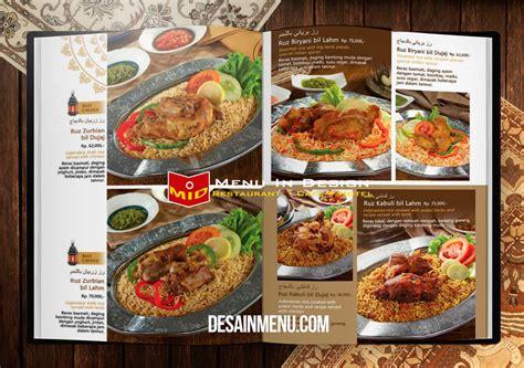Buku Menu cetak buku menu restoran