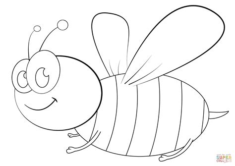 cartoon bee coloring page free printable coloring pages