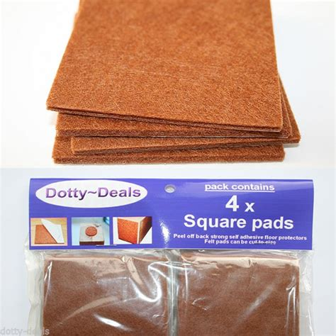 cut to size protector 48 x square cut to size felt floor protector pads dotty