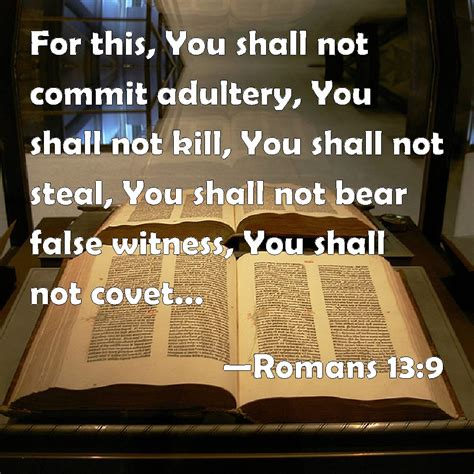 romans       commit adultery