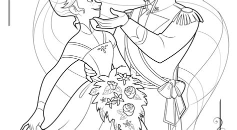 frozen wedding coloring pages hans and anna forever archives story monster