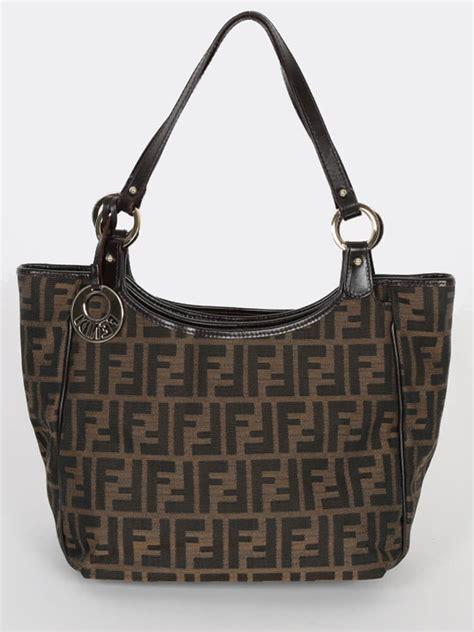 Fendi With Fendi Handbag by Fendi Zucca Signature Shoulder Bag Luxury Bags