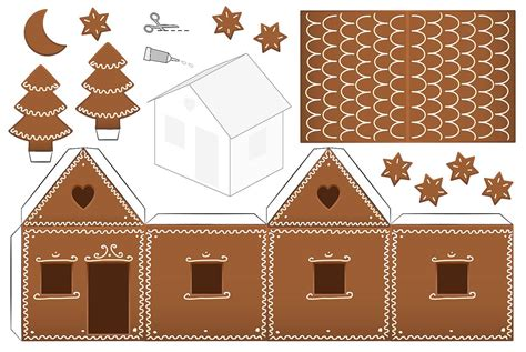 printable paper gingerbread house patterns gingerbread house coloring pages printable coloring