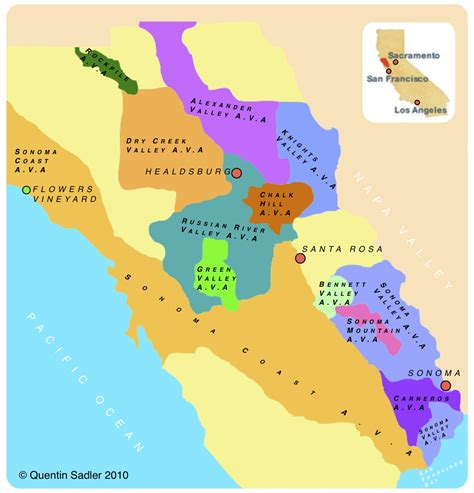 sonoma valley map sonoma valley quentin sadler s wine page