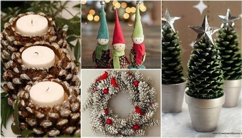 13 unique festive decorations using pine cones