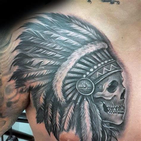 tattoos for men indian collection of 25 indian wolf and skull