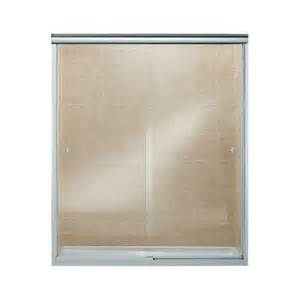 sliding frameless shower doors shop sterling finesse frameless silver sliding shower door