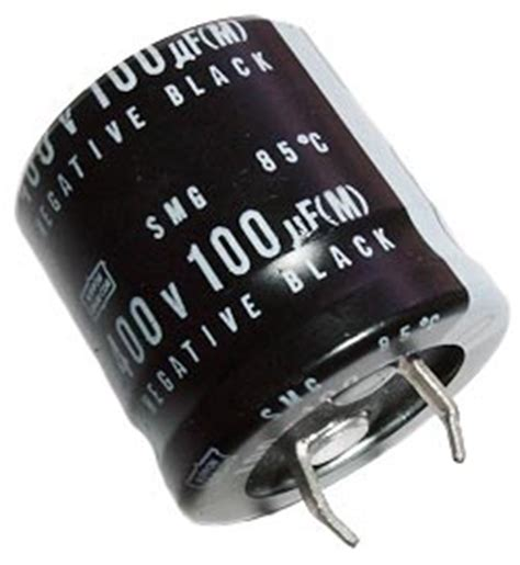 100uf 400v polypropylene capacitor 100uf 400v radial snap in electrolytic capacitor nippon smg series west florida components