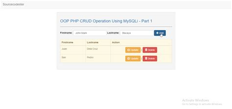tutorial php oop crud oop php crud operation using mysqli part 1 free source