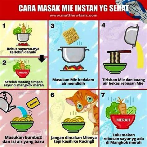 memasak mie instan  sehat  benar tips