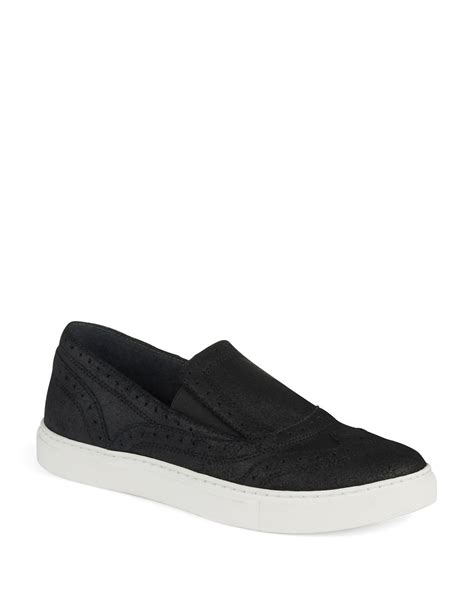 kenneth cole sneakers for kenneth cole wingtip slip on sneakers in black lyst