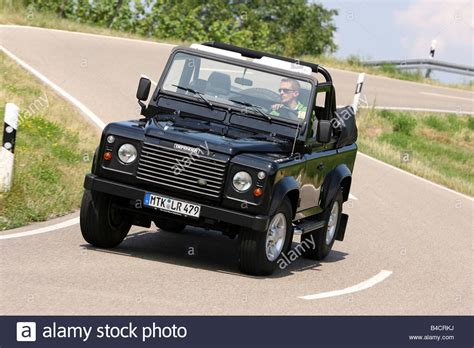 land rover convertible black land rover defender convertible two td5 model year 2006