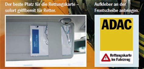 Kfz Rettungskarte Aufkleber by Verkehr Sicher Unterwegs Rettungskarte