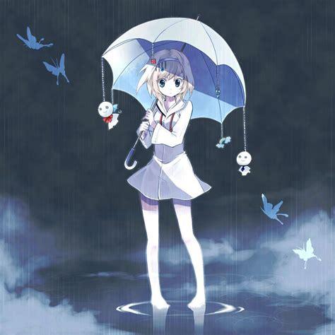 Anime Umbrella by Anime With Umbrella In The Www Pixshark