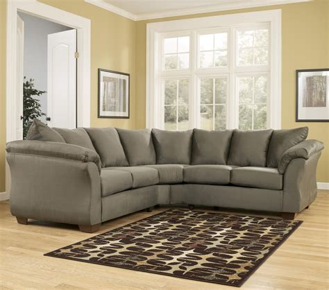 ashley darcy sectional sofa signature design by ashley darcy sage contemporary