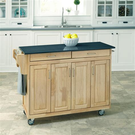 home styles create a cart red kitchen cart with stainless home styles create a cart natural kitchen cart with quartz