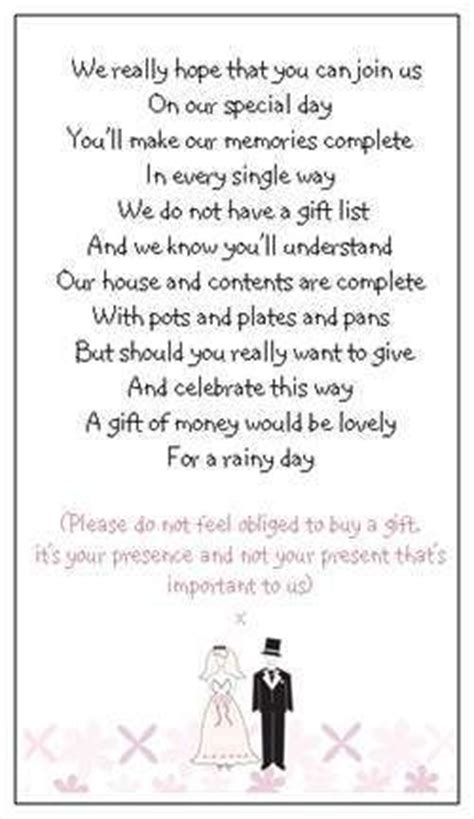 How To Ask For Gift Cards On An Invitation - 25 best ideas about wedding gift poem on pinterest mother of groom engagement