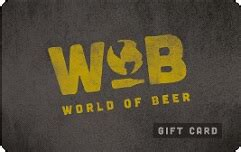 buy world of beer gift cards at a 10 discount giftcardplace - World Of Beer Gift Card