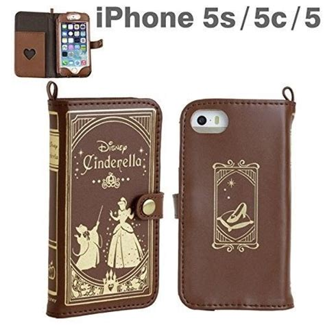 Dusbook Iphone 5 5s new cinderella book iphone 5 5s 5c leather disney from japan disney and the