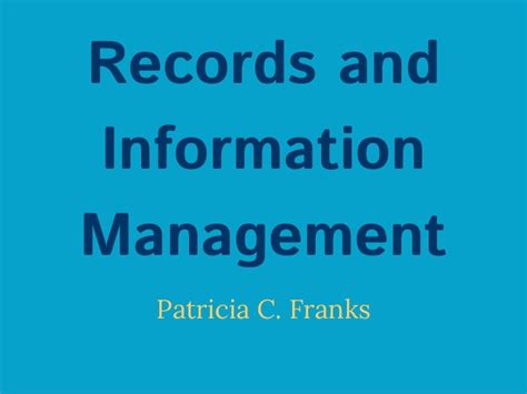 Are Records Information Records And Information Management