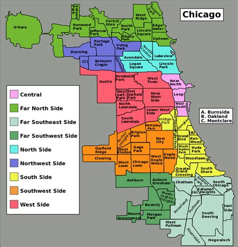 chicago map with neighborhoods file chicago community areas map svg wikimedia commons
