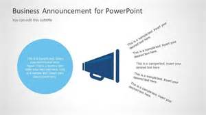 Corporate Announcement Template by Business Announcement Template For Powerpoint Slidemodel