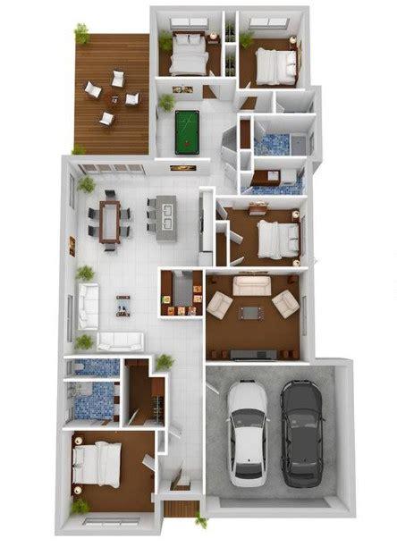 gambar denah rumah minimalis   kamar tidur istimewa desain rumah unik