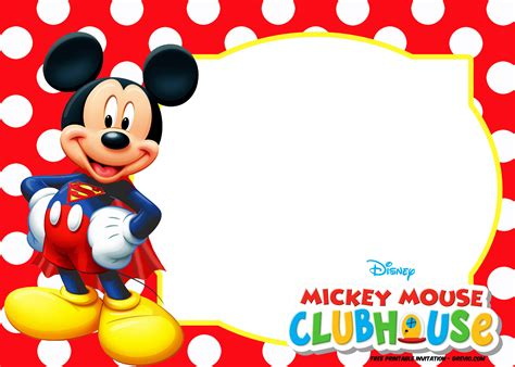 15 fresh mickey mouse 1st birthday invitations free collection