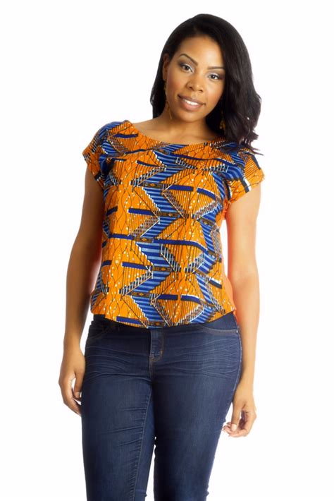 african tops styles africhiffon top closed back africans stylish and printing