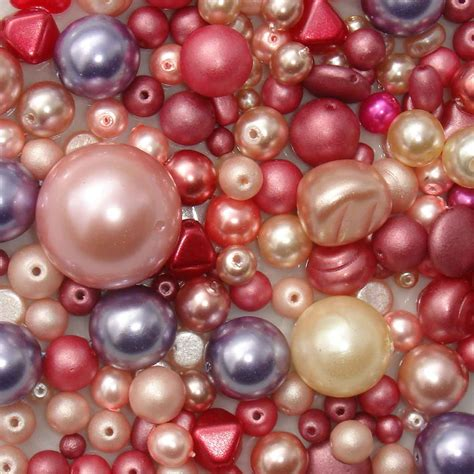 glass pearl bead mix glass pearls