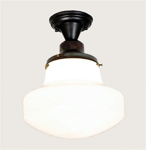 Schoolhouse Semi Flush Ceiling Light Meyda 50650 Schoolhouse W Globe Semi Flush Ceiling Fixture