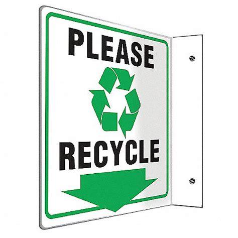 letreros con reciclaje accuform letrero de reciclaje pl 225 stico se 241 alamientos