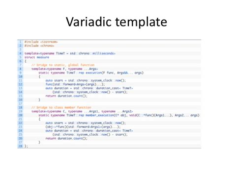 variadic templates c 11综述 新特性描述 overview of c 11 new features