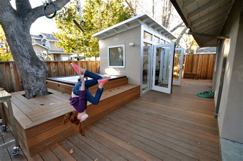 Shed Musician by Studio Shed Office 8x14 Modern Deck San