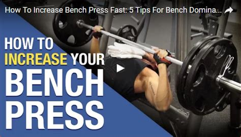 increase your bench press how to increase bench press max fast 28 images best