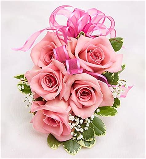 Pink Rose Corsage Pink Rose Corsage From 1 800 Flowers Com