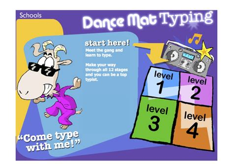 Typing Mat Level 1 by Dancemat Typing Laptuoso
