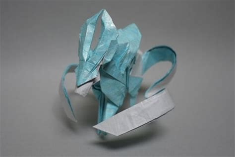 Origami Lugia - origami from gold silver ruby sapphire