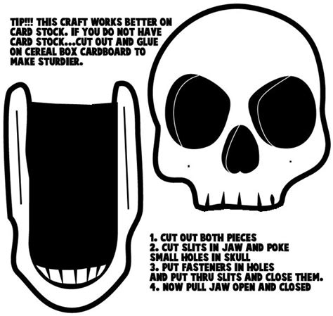 Card Mask Templates For Sale by Craft Templates Skulls 171 Card